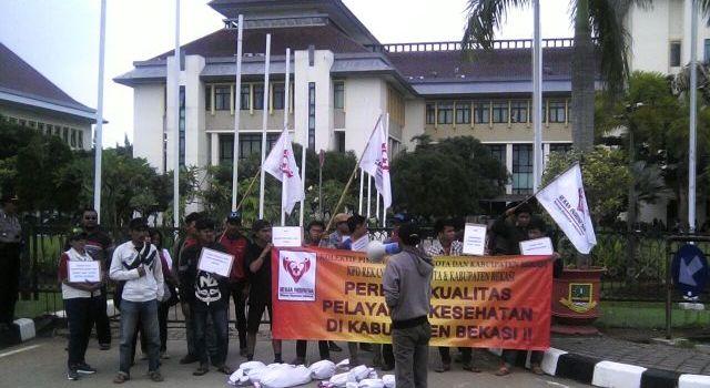 Unjuk Rasa Rekan Indonesia Kab Bekasi suara jakarta