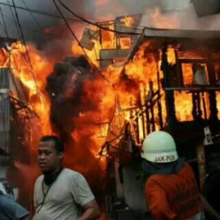Jati Bunder, Kebon Melati Tanah Abang Kebakaran