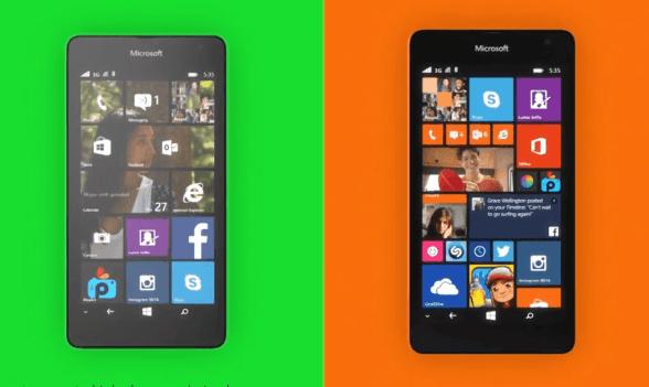 Smartphone Lumia 535. (Foto: tbreak.com)