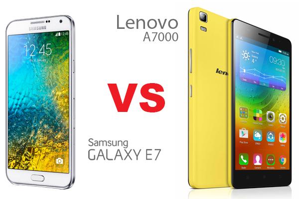 Samsung Galaxy E7 vs Lenovo A7000