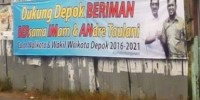 RDP Mundur, Spanduk Dukungan Imam dan Andre Beredar Luas di Depok