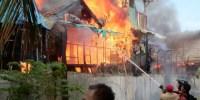 Belasan Rumah di Tanah Abang Hangus Terbakar