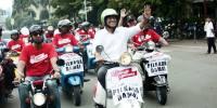 Naik Vespa Klasik, Anies Ingin Majukan Jakarta Melalui Seni Tidak Hanya dengan Kerja