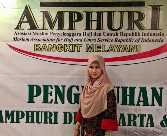 Foto: Meryam Kusumawati saat menghadiri Acara Amphuri