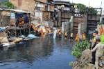Satpol PP Tambora Bongkar Bangunan Liar di Bantaran Kali Item