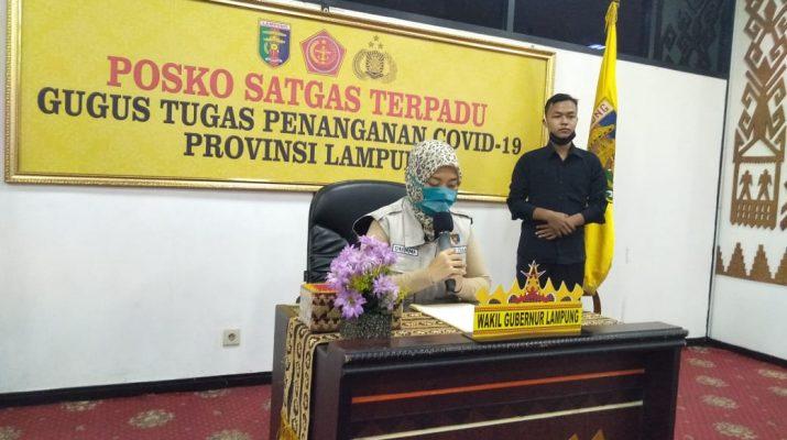 Posko Satgas Terpadu Penanganan Covid-19 Provinsi Lampung Sampaikan Perkembangan Update Data Terbaru 4 Mei 2020