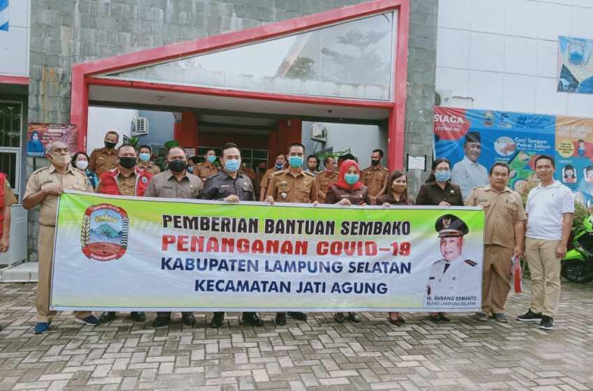 Camat Jati Agung Terima 2038 Paket Sembako Covid 19 Dari Pemkab Lampung Selatan