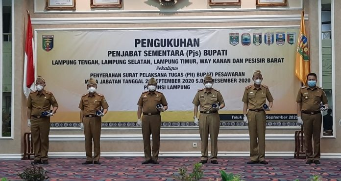 Lima Pjs Bupati dan Satu Plt Bupati Dilantik Gubernur Arinal