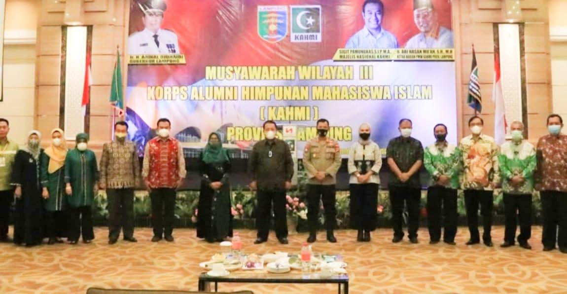 Gubernur Arinal Djunaidi Resmikan Muswil III KAHMI Provinsi Lampung