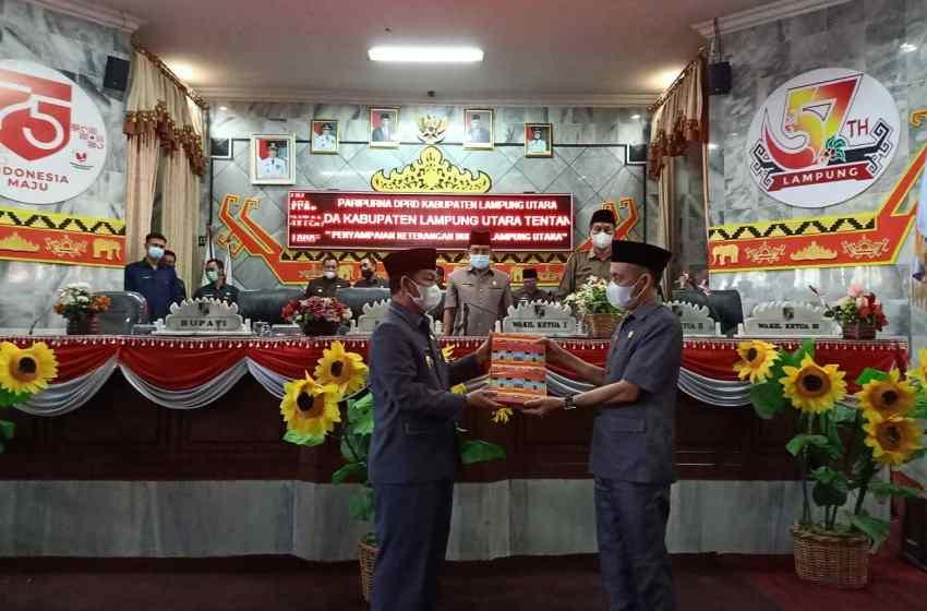 Pembahasan Rancangan Perda Lampung Utara tentang Pertanggungjawaban APBD 2020