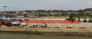 Pelabuhan Tutu Kumbong Saumlaki, yang akan diresmikan Presiden Joko Widodo, pada 6 April 2016 mendatang. (foto fanny imapullyimnana)