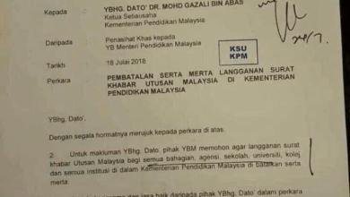 Photo of Dosa Maszlee kepada kakitangan Utusan Melayu
