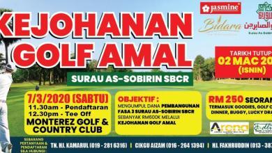 Photo of Surau As Sobirin anjur golf amal, pancing kutip dana bina surau