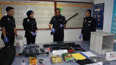 Photo of Dua lelaki ditahan miliki dadah, senjata api