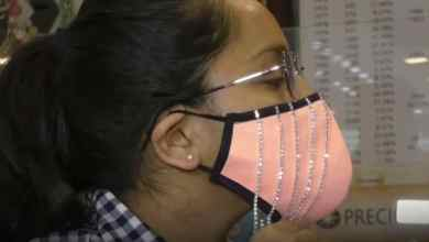 Photo of 'Face mask' bertatahkan berlian jadi tumpuan di India
