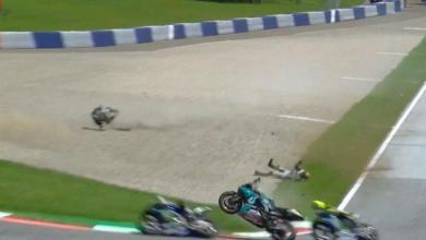 Photo of Jentera Morbidelli melayang hampir merempuh Rossi