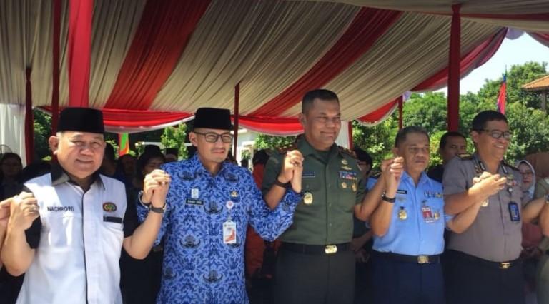 Sandiaga Uno dan Pangdam Jaya Hadiri Sosialisasi Pancasila di Setu Babakan