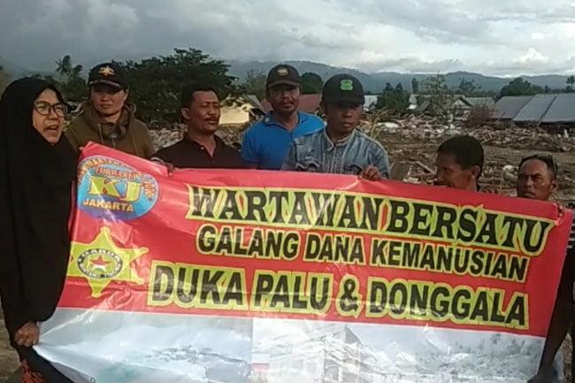 FORWARTA Kalijodo Galang Dana Korban Tsunami Palu Donggala
