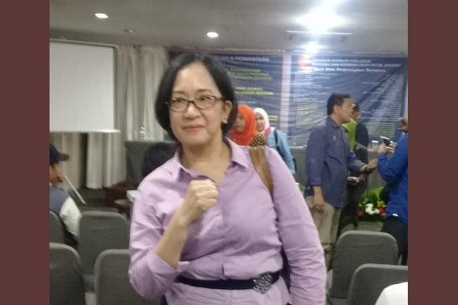 Koordinator JAKI Korban HAM dan Kriminalisasi Nelly Rosa Yulhiana Siringoringo