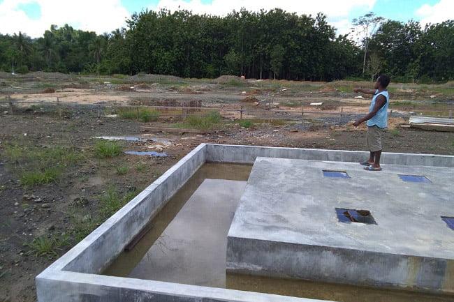 Lokasi Pengerjaan Gardu Induk 60 MVA di Giwu Kota Sorong Mangkrak