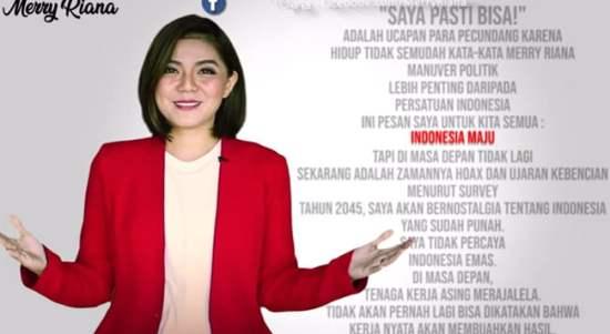 Video Harapan Merry Riana Jadi Hoax Karena Sudah Diedit