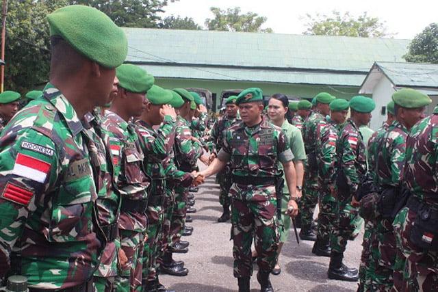 Prajurit Yonif 711 Raksatama Perkuat Satgas Pam Pulau Terluar