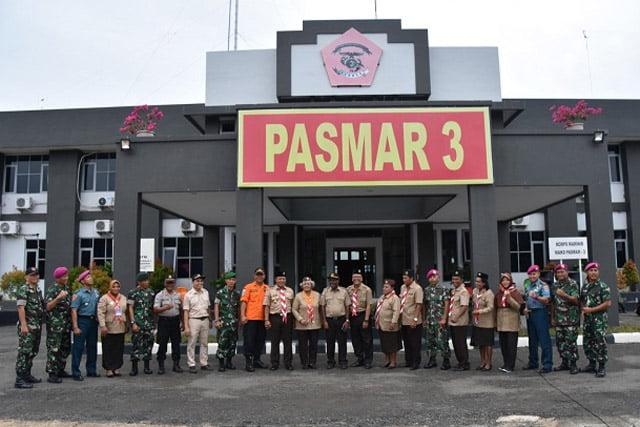 Upacara HUT Baden Powell Ke-163 di lapangan Apel Mako Pasmar 3 Sorong Papua Barat, Rabu (19/2/2020).