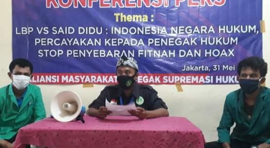 AMPSH: Stop Provokasi dan Sebar Hoax Soal LBP VS Said Didu