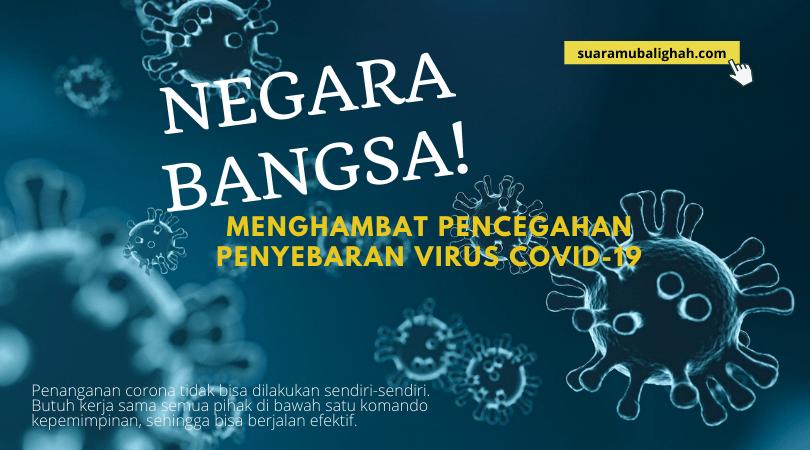 Negara Bangsa Menghambat Pencegahan Penyebaran Virus Covid-19