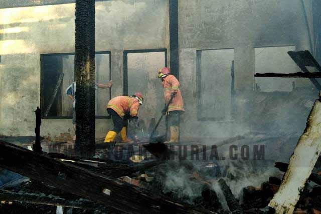 kebakaran gudang mebel