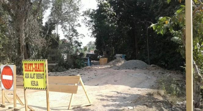 Jembatan Desa Sungai Baung Dibangun Baru
