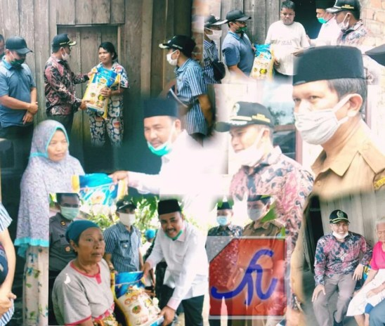 Wabup Bersama Anggota Dewan Antar Langsung Bantuan Beras di Kelurahan Pauh