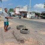 Aspal Jendol di Sri Pelayang Membahayakan Pengguna Jalan
