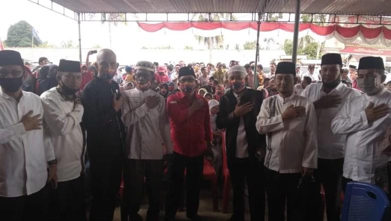 Ribuan Massa Iringi HDSTULLAH ke KPU Muratara