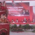 CE-RATU Hadiri Rakercabsus dan Musyawarah Anak Cabang PDIP Sarolangun