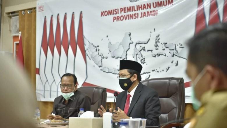 Bahas Penyelenggaraan Pilkada 2020, Pjs.Gubernur Jambi Sambangi KPUD