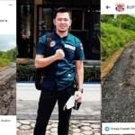 Viral, Jalan Aspal di Ketapat Bening Belum Lama Dibangun Sudah Hancur