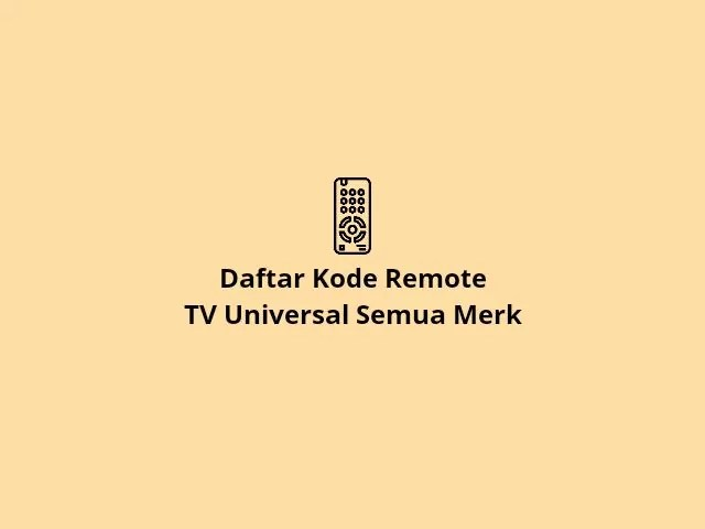 Kode remote TV universal