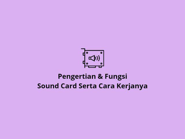 Fungsi sound card