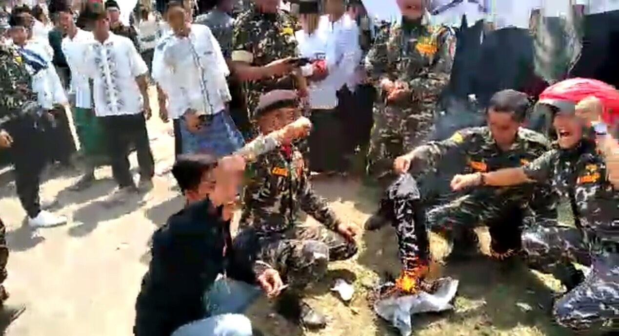 Kronologi Pembakar Bendera Mirip HTI versi GP Ansor Jabar