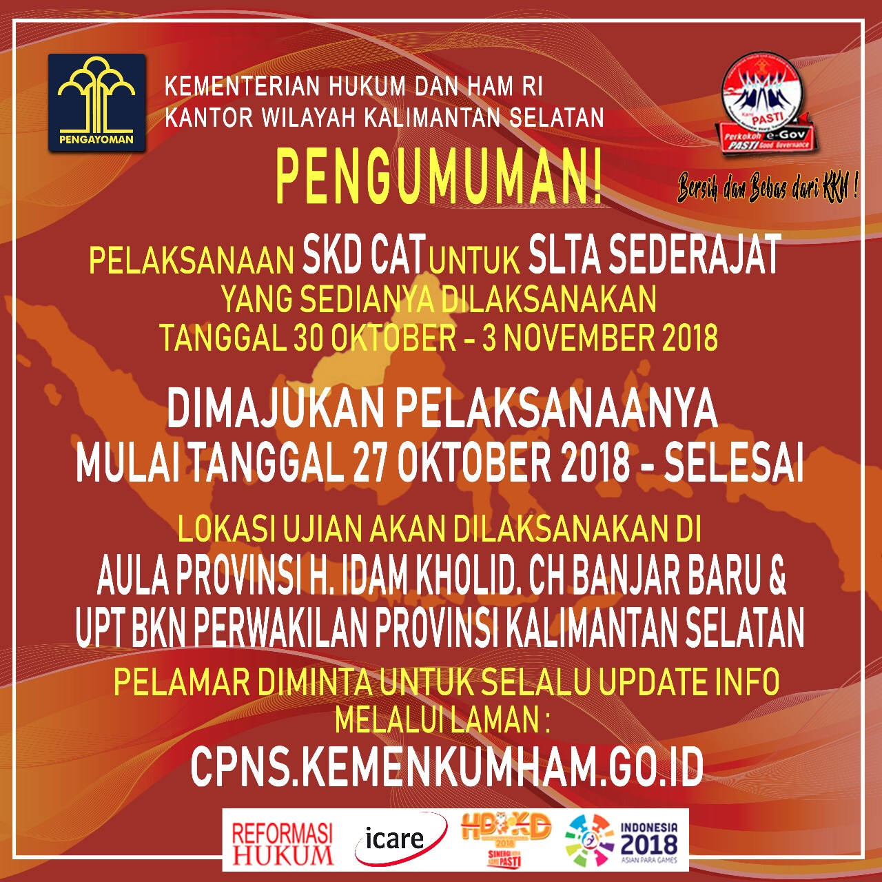 Jadwal CAT CPNS SLTA Dimajukan Jadi 27 Oktober