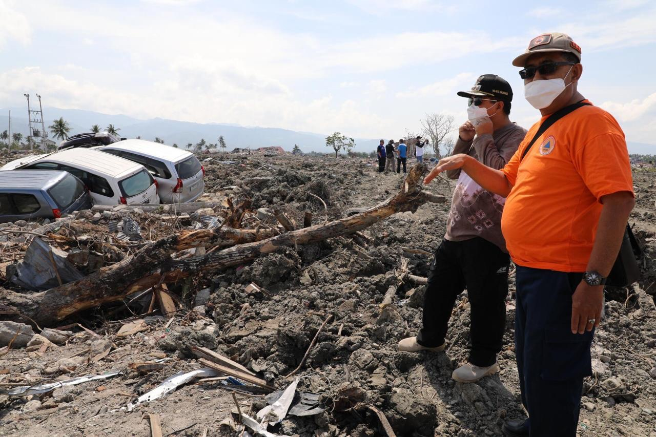 Kunjungi Lokasi Bencana,  Ibnu Terus Sebut  Kalimat Takbir