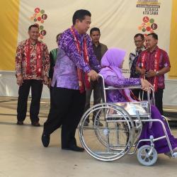 Ratusan Penyandang Disabilitas Kumpul Rayakan HDI di Balai Kota