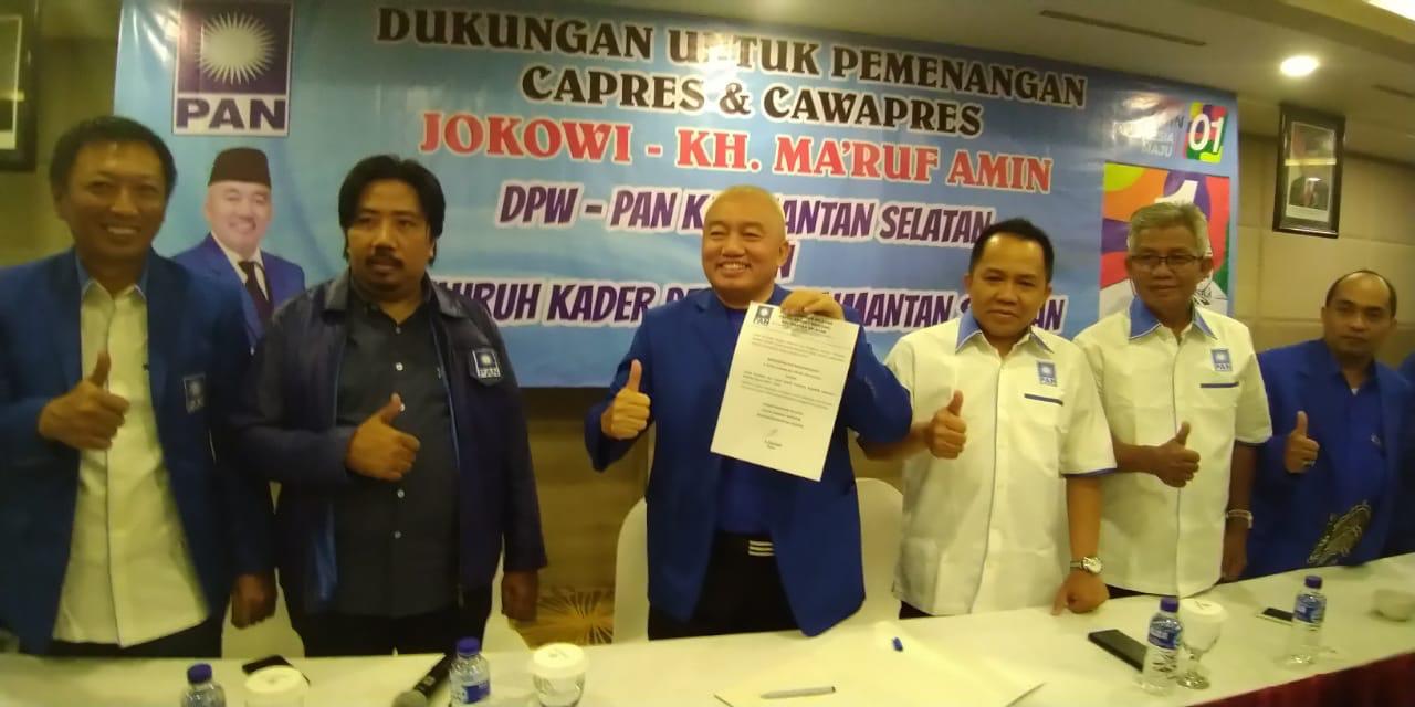 "Muhidin ""Mbalelo' Garis PAN, Dukung Jokowi-Ma'ruf"