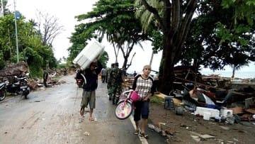 Korban Tewas Tsunami 168 Orang, 745 Luka dan 558 Rumah Rusak