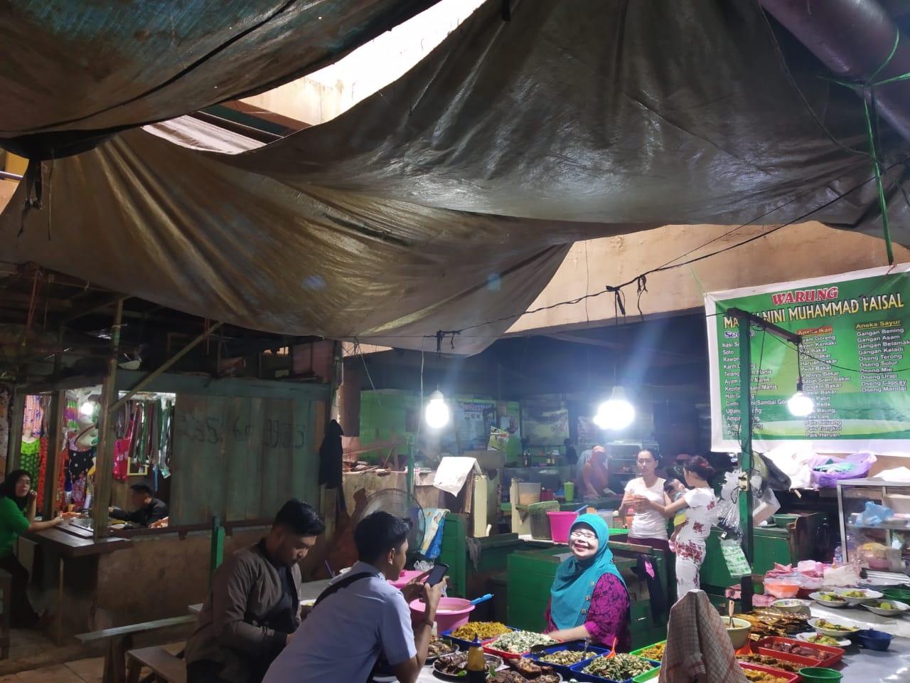 Atap Pasar SA.Bocor, Puluhan Pedagang.Mengeluh