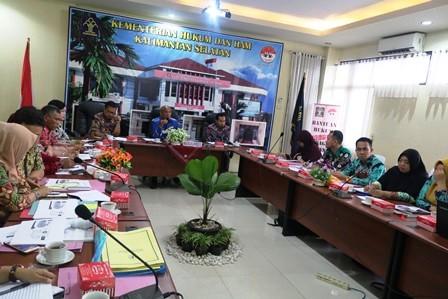 Kemenkumham Kumpulkan Instansi Pembentuk Hukum Daerah se Kalsel