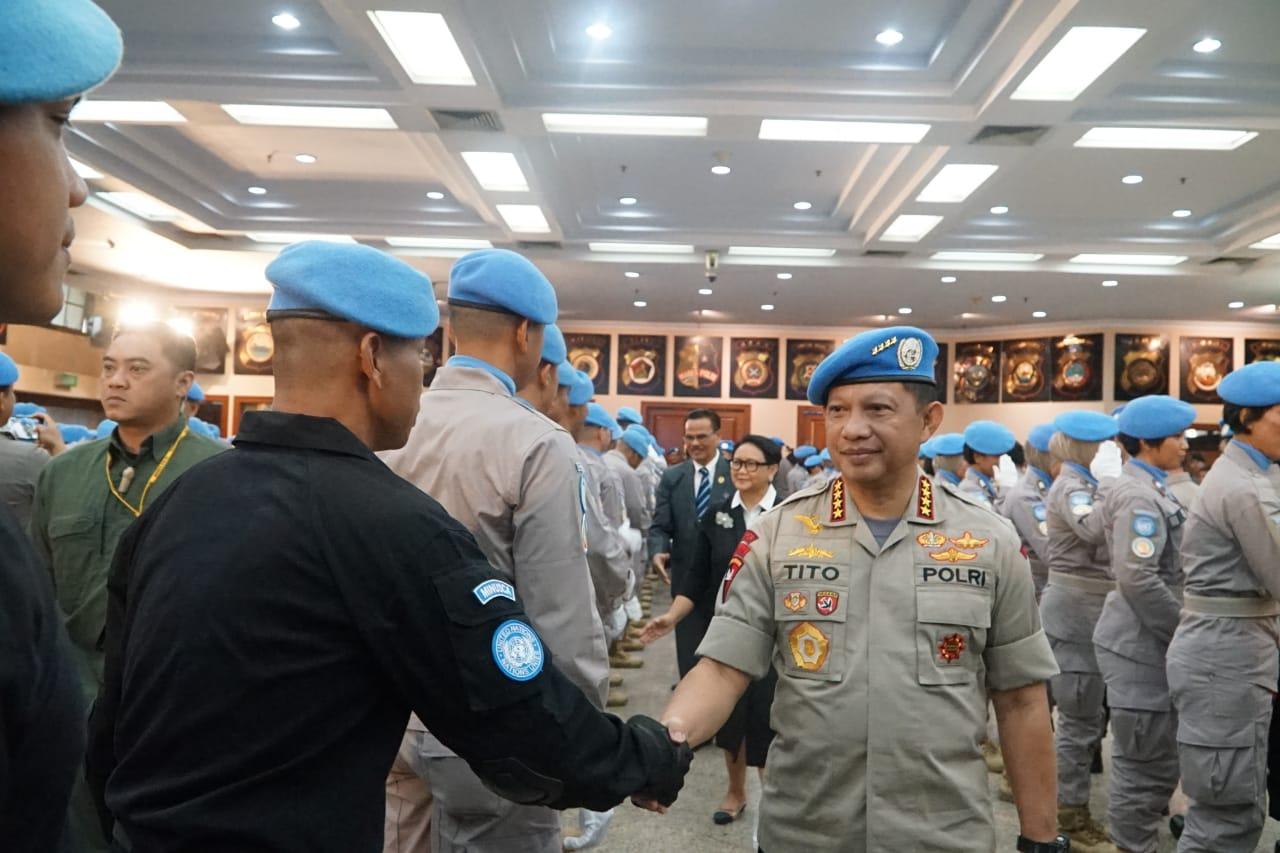 Lima Personil Brimob Polda Kalsel Terlibat Misi Perdamaian di Negara Konflik