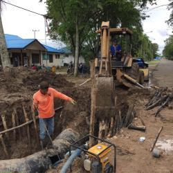 Perbaikan Pipa Bocor Sore Selesai, Jumat Air Mengalir