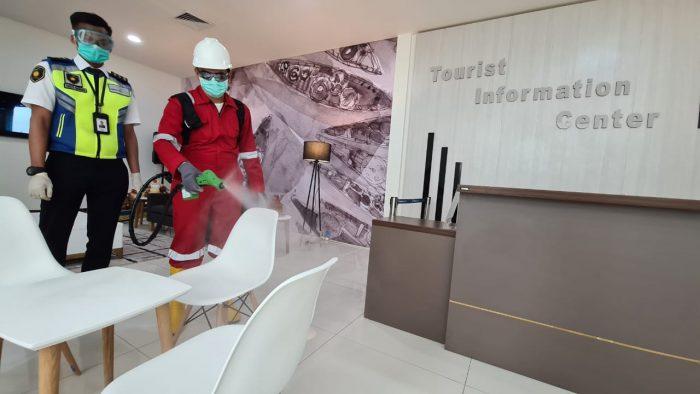 DISTERILKAN Fasilitas Umum Bandara Syamsudin Noor